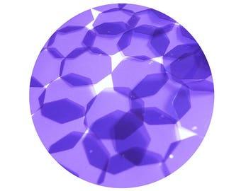 Octagon Vinyl Shape Top Hole 30mm Purple Go Go Transparent
