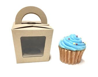Kraft Cupcake Boxes Mini Cupcake Box Mini Cupcake Boxes Cupcake Wedding Individual Cupcake Mini Cupcake Holder Single Cupcake 25 Included