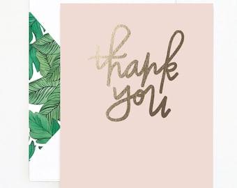Blush Thank You Card