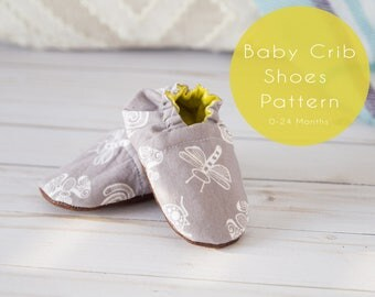 Baby Shoes Pattern - Sewing Patterns for Baby - Baby Crib Shoes Pattern - Sewing Pattern Baby Shoes - Instant Download - DIY