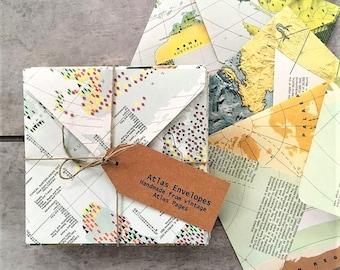 Map Envelopes, Travel Theme Party, Travel Theme Bridal Shower, Travel Theme Baby Shower, Pen Pal Snail Mail Kit, Happy Mail, Journal Inserts