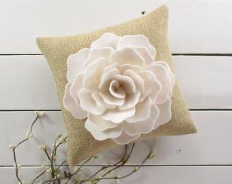 Burlap Ring Bearer Pillow, Rustic Ring Bearer, Burlap Wedding Decor, Ring Bearer Pillow, Rustic Wedding, Burlap Wedding Pillow