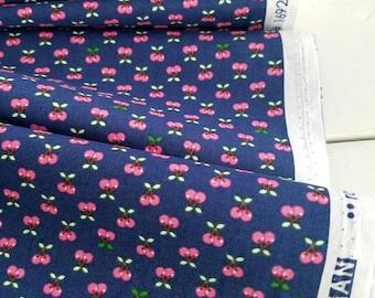 Tiny Happy Lucky - Cherries(Navy) - Cynthia Frenette - Robert Kaufman - Sewing Fabric - Tiny print fabric - Quilt fabric