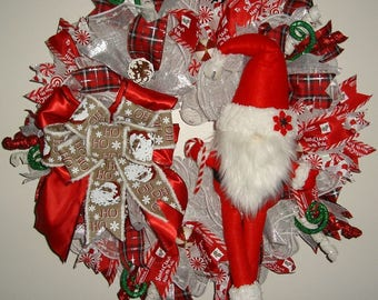 Santa Ruffled Mesh Wreath, Special Delivery Christmas Mesh Wreath, Holiday Mesh Wreath, Santa Wreath, Holiday Decor
