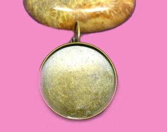25mm cabochon 25mm bronze Stud Earrings
