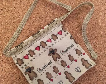 American Girl Doll Apron with Gingerbread men designs