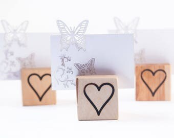 10 Wood  table number holder,  Rustic wedding  decor, Guest Card Holders, woodland wedding favors, place card stand, name tag holder