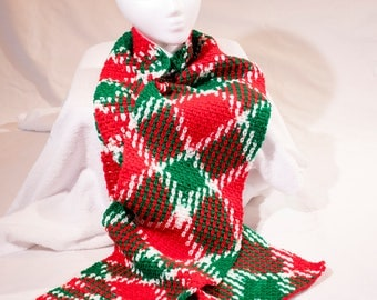 Christmas Holiday Color Pooling Crochet Scarf