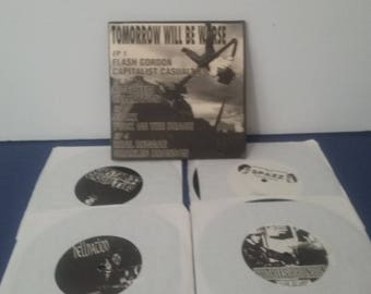 Sound Pollution Records - Various Artist - Tomorrow Will Be Worse - 4 Record Set - 45RPM - Circa 1997