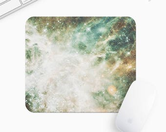 Galaxy and Stars Mouse Pad, Universe Mousepad, Rectangle or Round, Gift mp0007