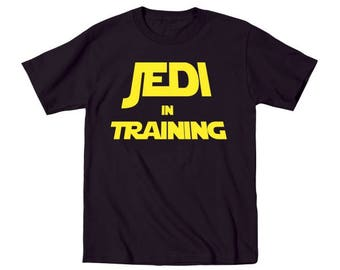 Jedi In Training Cute Funny Star Wars Baby Outfit Humor Toddler T-Shirt DT0529