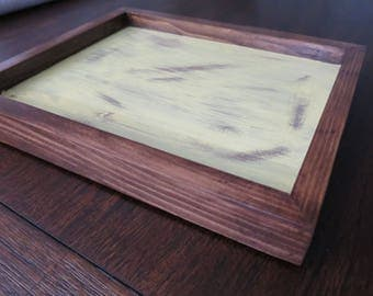 Large rustic wooden catch all tray