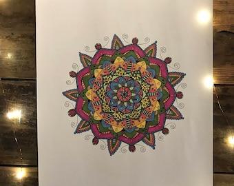 Willie Nelson // original ink mandala