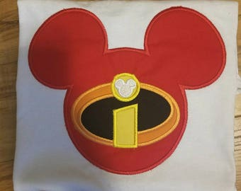 The Incredibles Mouse head Disney Vacation