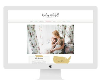 Wix Website design, wix website template, photography website design, photography wix, photography logo, colorful, rainbow, website 4888