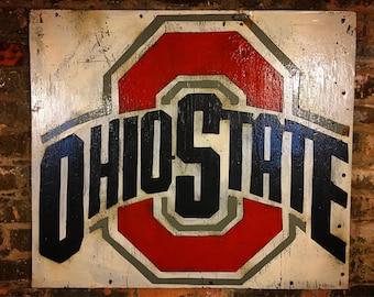 Ohio State, The Ohio State, Ohio, College, Vintage Sign, Vintage Ohio, Ohio State Sign, wooden signs, Football, Buckeyes