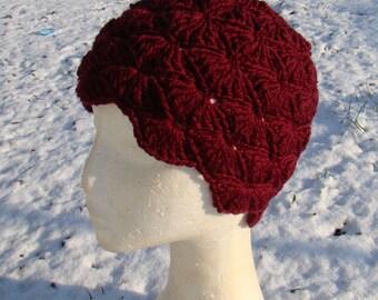 Shell Stitch Beanie Hat