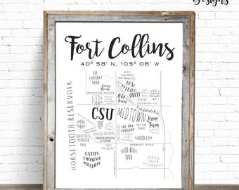 FOCO Map | Fort Collins Printable Sign