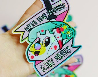What's Your Favourite Scary Movie Hotline, Scream X Powerpuff Girls Holographic Sticker