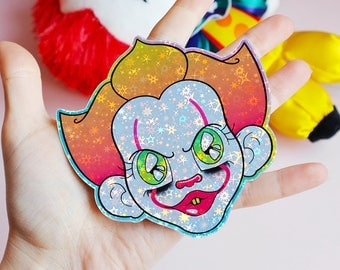 Clown Holographic Sticker