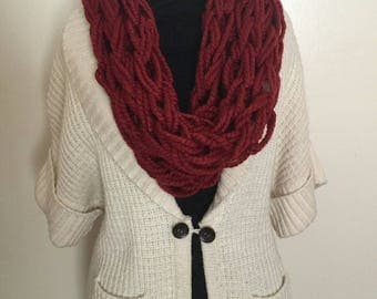 Cranberry Cowl | Women's Scarf | Burgundy Scarf | Gifts For Mom