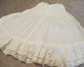 Victorian Lace Petticoat