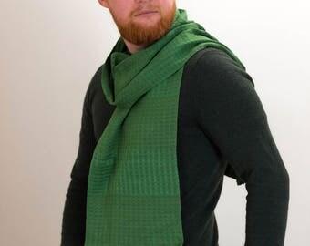 Men's Wear, Men's Scarves, Men's Scarf, Green Scarf, British Made, Men's Accessories, Men's Fashion, Designer Scarf, Gift Idea, 377