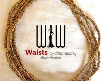 Gold African Waist Beads
