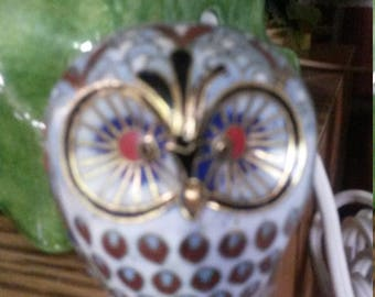 Chinese Cloisonne Small OWL figurine