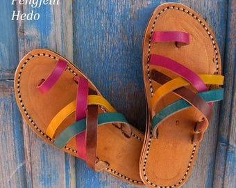 Sandals barefoot size 29 leather for girl