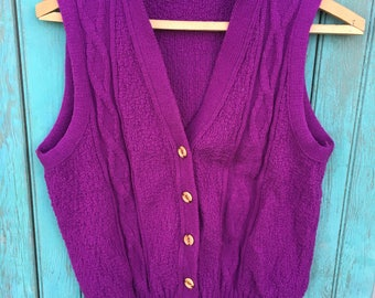 Color of the Year Purple Vintage Women's Sweater Vest
