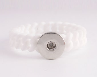KB9712 White Stretch Silicone Bracelet ~ 183mm