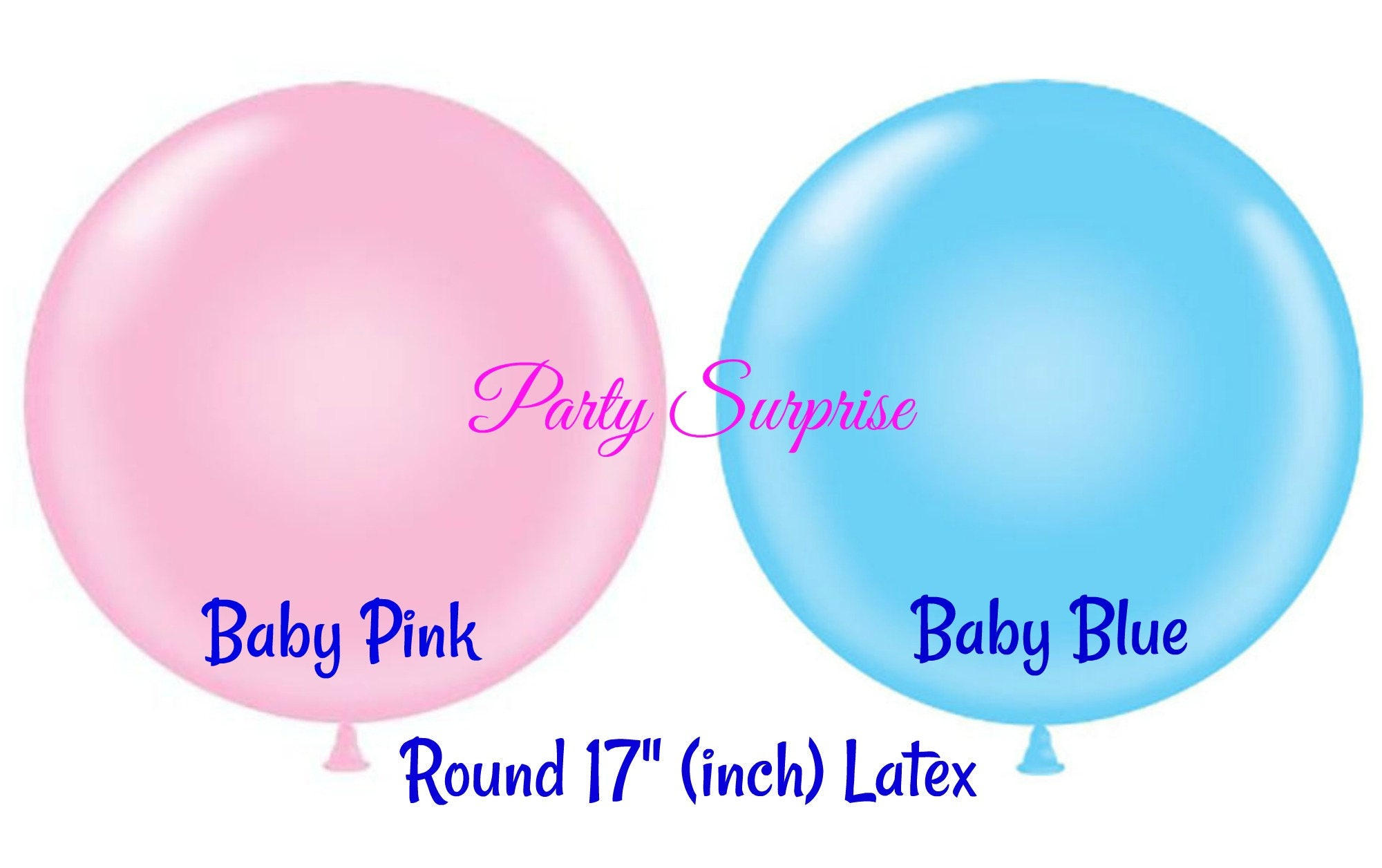 Balloons Baby Shower Balloon 16 Inch Pink Blue White 16