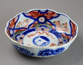 Antique Japanese Imari Porcelain Henkei Bowl P5