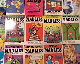 Mad Libs Game Pads and Electronic Keychain