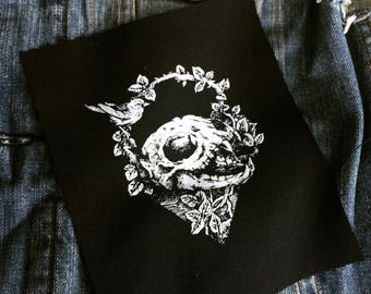 Nature and skull Patch | Patches | Punk Patches