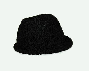 70's Sheep fur hat, Made in Finland