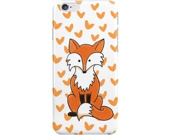 Little Fox iPhone Case, Orange and White, Cute Animal Samsung Galaxy Case