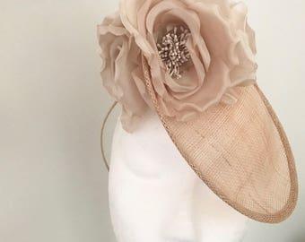 Champagne Blush Fascinator Hat