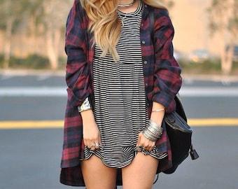 Oversized vintage Flannel Shirt, plaid shirt, grunge flannel, vintage flannel, comfy flannel