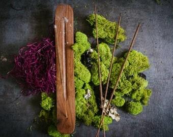 Stick Incense Burner - Incense Stick Holder - Incense Gift Set - Incense Holder - 20 Incense Sticks - Ritual Incense - Housewarming Gift