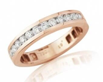0.50ct Diamond Rose Gold Eternity Ring
