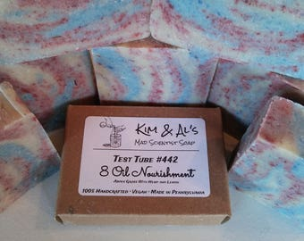 Handmade Soap 8 Oil Nourishment  With Hemp and Lemon - Aspen Grass Scent