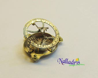 Miniature Sundial Compass