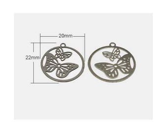 Silver 22mm (sold separately) Butterfly metal stamp