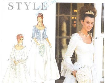 Simplicity Style 9025 Misses Renaissance Wedding Gown Sewing Pattern, 8-18