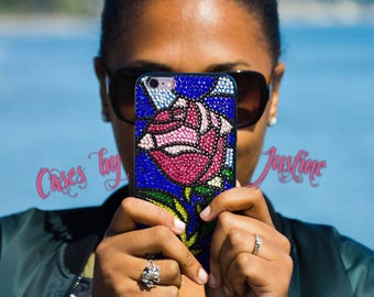 Beauty & the Beast Stained Glass Rose Case!