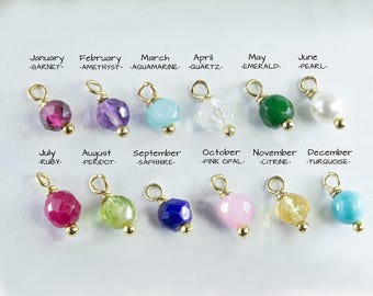 GEMSTONE or CZ (Cubic Zirconia) charm - addition  to the necklaces and bracelets