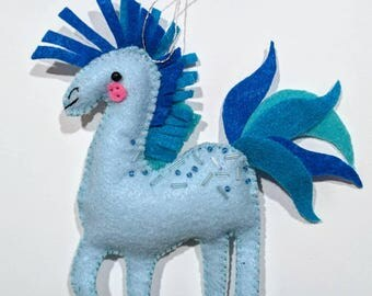 Blue Horse Ornament