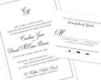 Romantic Script Wedding Invitation | Calligraphy | Modern Wedding Invitation | DIY Option Available | Invitation | RSVP | Info Card #1226